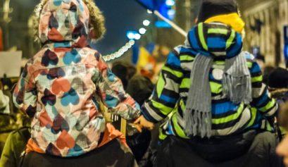 copii la protest